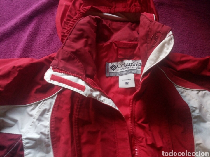 Vintage: Chaqueta Columbia vertex roja talla 10 / 12 años - Foto 2 - 168350198