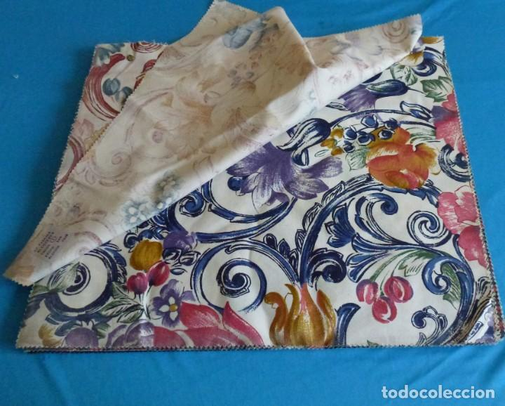 Vintage: 40 retales de tela de muestrario.52 x 43 cm. - Foto 2 - 168523912