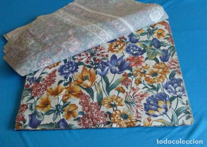 Vintage: 40 retales de tela de muestrario.52 x 43 cm. - Foto 5 - 168523912
