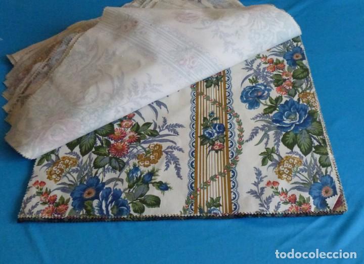 Vintage: 40 retales de tela de muestrario.52 x 43 cm. - Foto 9 - 168523912
