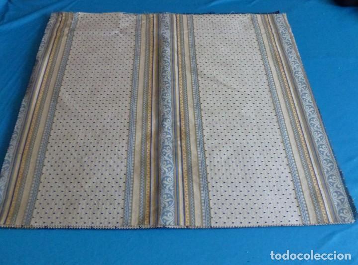11 RETALES DE TELA DE MUESTRARIO.70 X 60 CM. (Vintage - Moda - Complementos)
