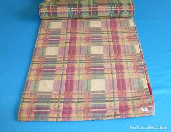 Vintage: 8 retales de tela de muestrario.65 x 40 cm. - Foto 4 - 168523964