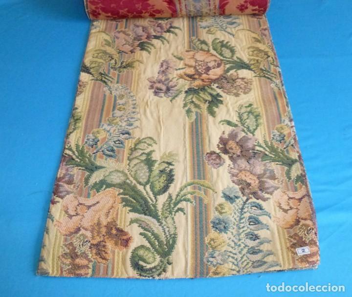 Vintage: 8 retales de tela de muestrario.65 x 40 cm. - Foto 6 - 168523964