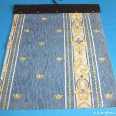 Vintage: 12 RETALES DE TELA DE MUESTRARIO.52 X 46 CM.. Lote 168523996