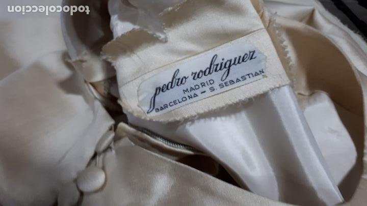 Vintage: VESTIDO CORTO ALTA COSTURA DE PEDRO RODRIGUEZ AÑOS 60 SHANTUN DE SEDA - Foto 10 - 160861750