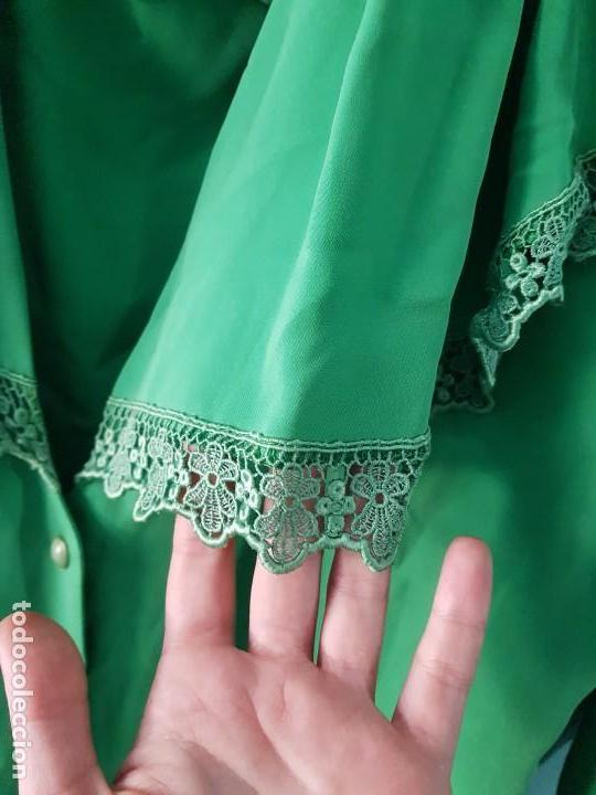 Vintage: Blusa manga larga vintage color verde esmeralda - Foto 2 - 169566552