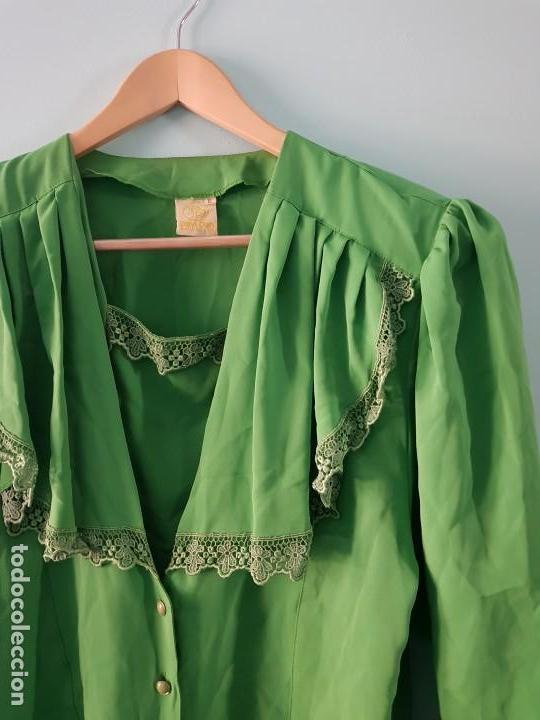 Vintage: Blusa manga larga vintage color verde esmeralda - Foto 3 - 169566552