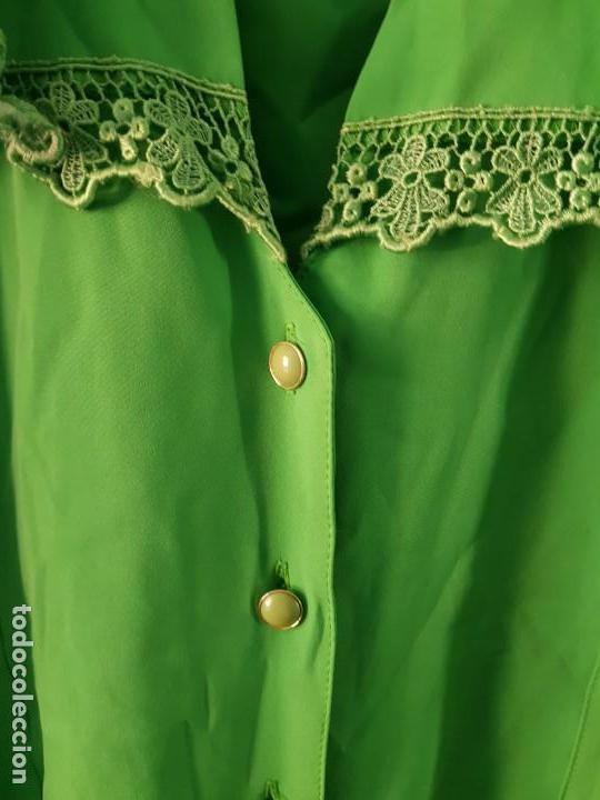 Vintage: Blusa manga larga vintage color verde esmeralda - Foto 4 - 169566552