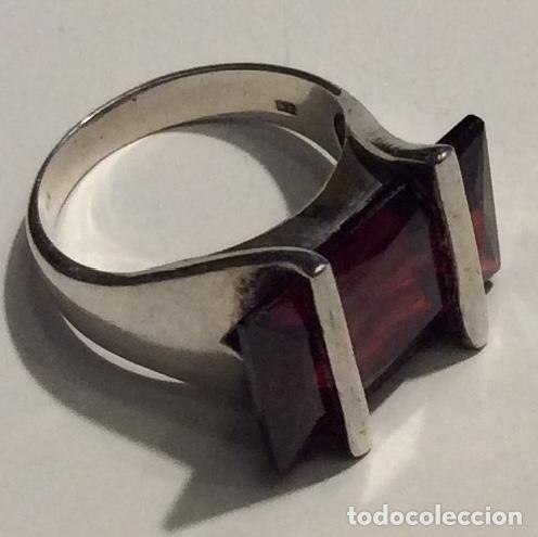 Vintage: Envió 6€. 3 anillos materiales diferentes y Cristal antiguos muy bonitos. Mirar bien las imágenes - Foto 2 - 169595340