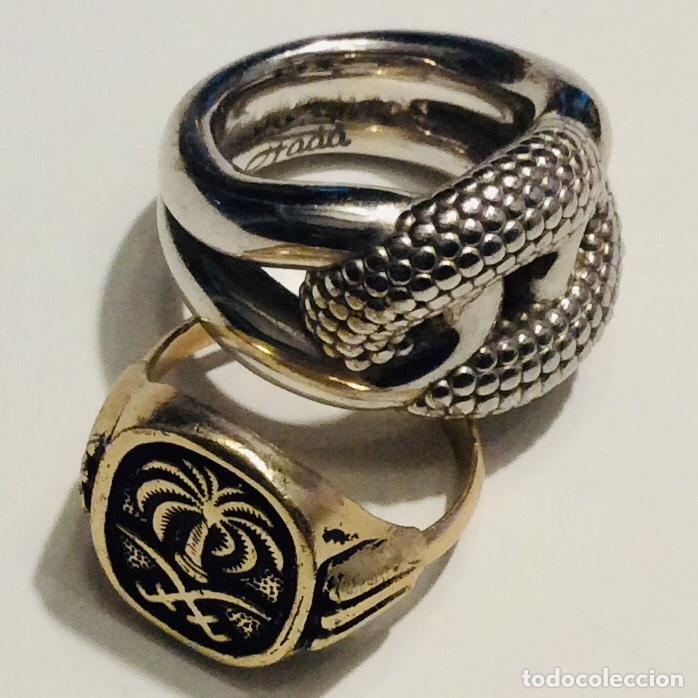 Vintage: Envió 6€. 3 anillos materiales diferentes y Cristal antiguos muy bonitos. Mirar bien las imágenes - Foto 9 - 169595340