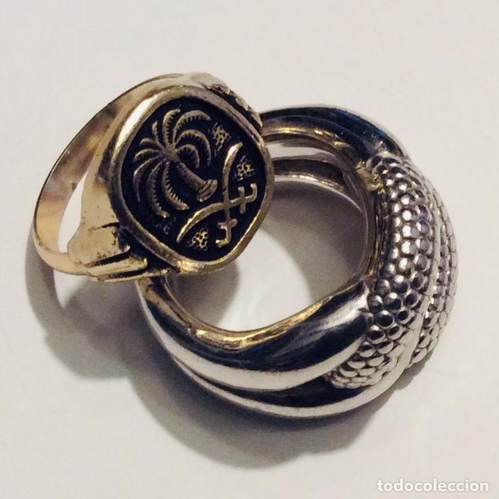 Vintage: Envió 6€. 3 anillos materiales diferentes y Cristal antiguos muy bonitos. Mirar bien las imágenes - Foto 13 - 169595340