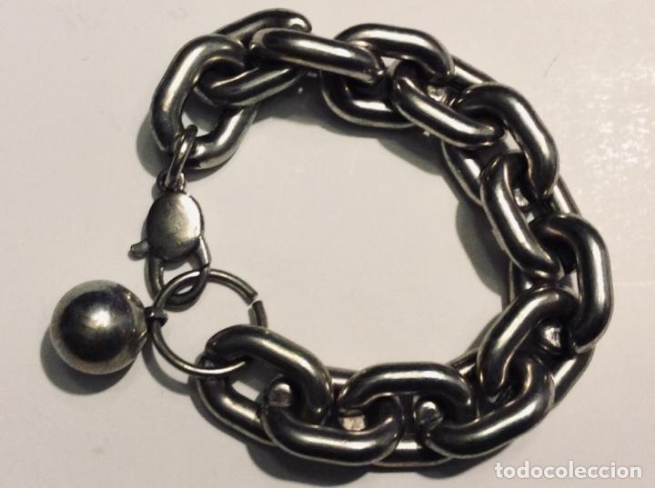 Vintage: Envío 8€. Pulsera aleación de plástico cromada en plata muy resistente y no pesa aunque lo aparente. - Foto 6 - 169596080