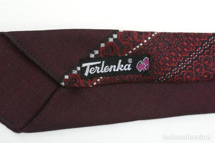 Vintage: Corbata vintage de los 60 morada con estampado abstracto - Foto 5 - 171037503