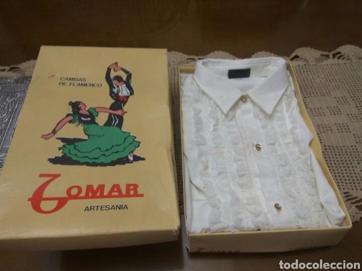 ARTESANÍA CAMISA DE FLAMENCO.TALLA 32 NUEVA (Vintage - Moda - Hombre)