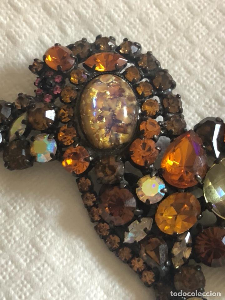Vintage: Precioso broche vintage Ámbar y cristales, gran tamaño - Foto 3 - 171954367