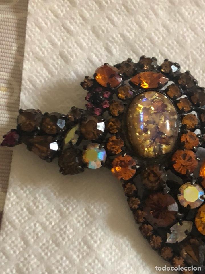 Vintage: Precioso broche vintage Ámbar y cristales, gran tamaño - Foto 4 - 171954367
