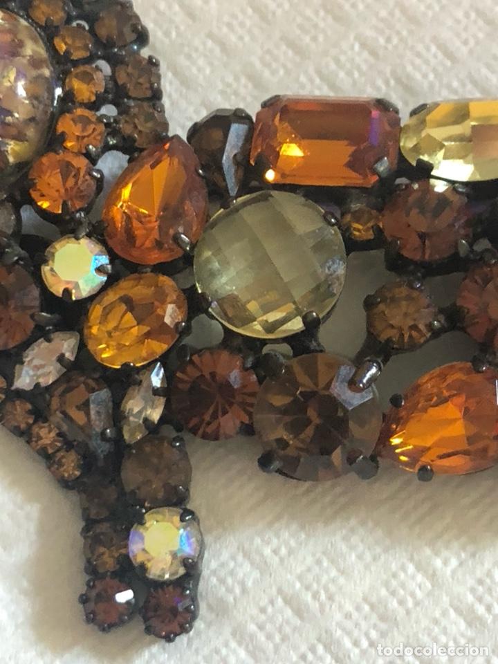 Vintage: Precioso broche vintage Ámbar y cristales, gran tamaño - Foto 5 - 171954367