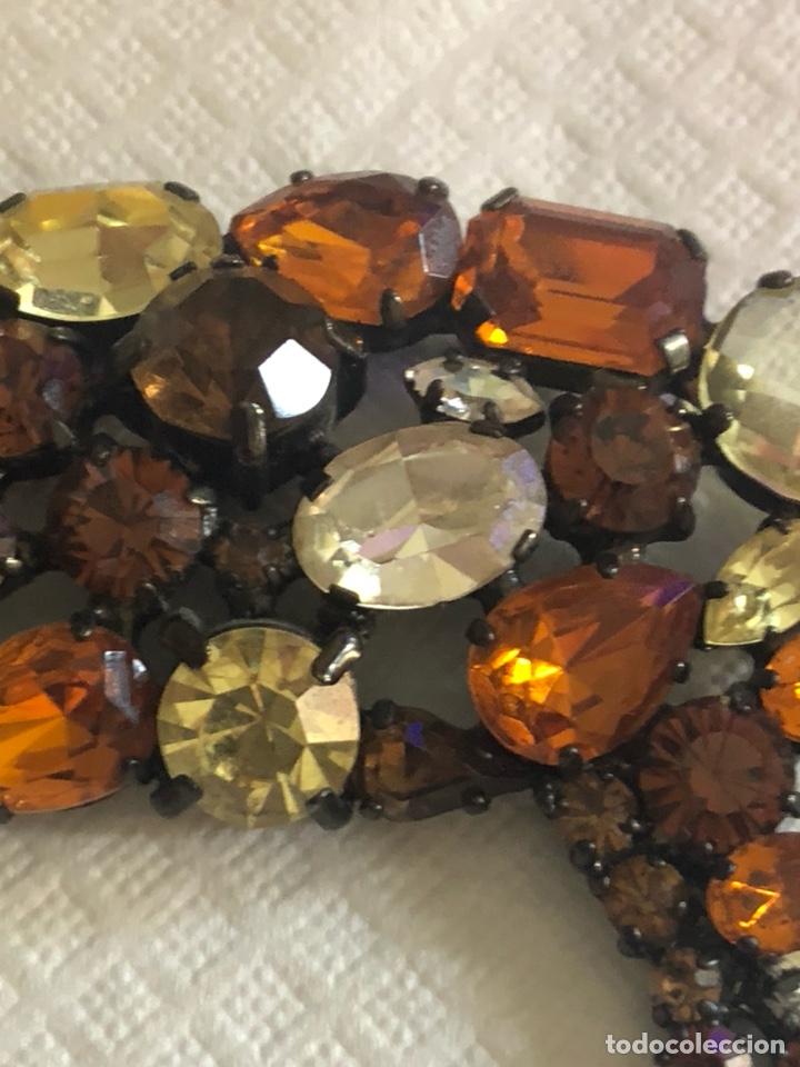 Vintage: Precioso broche vintage Ámbar y cristales, gran tamaño - Foto 6 - 171954367