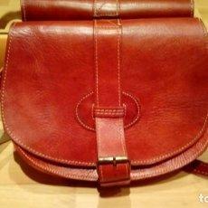 Vintage: BOLSO ARTESANAL PIEL. Lote 172094559