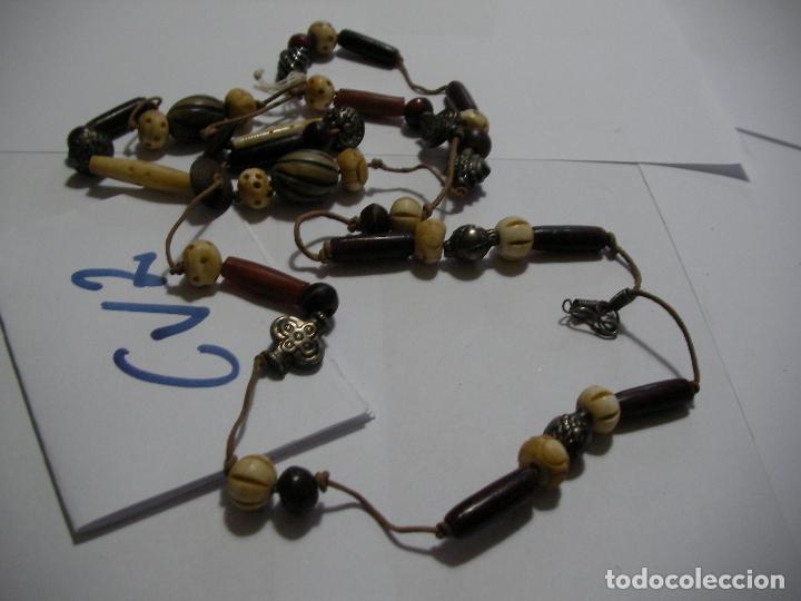 ANTIGUO COLGANTE HECHO A MANO (INDIA) NUEVO SIN USO (Vintage - Moda - Complementos)