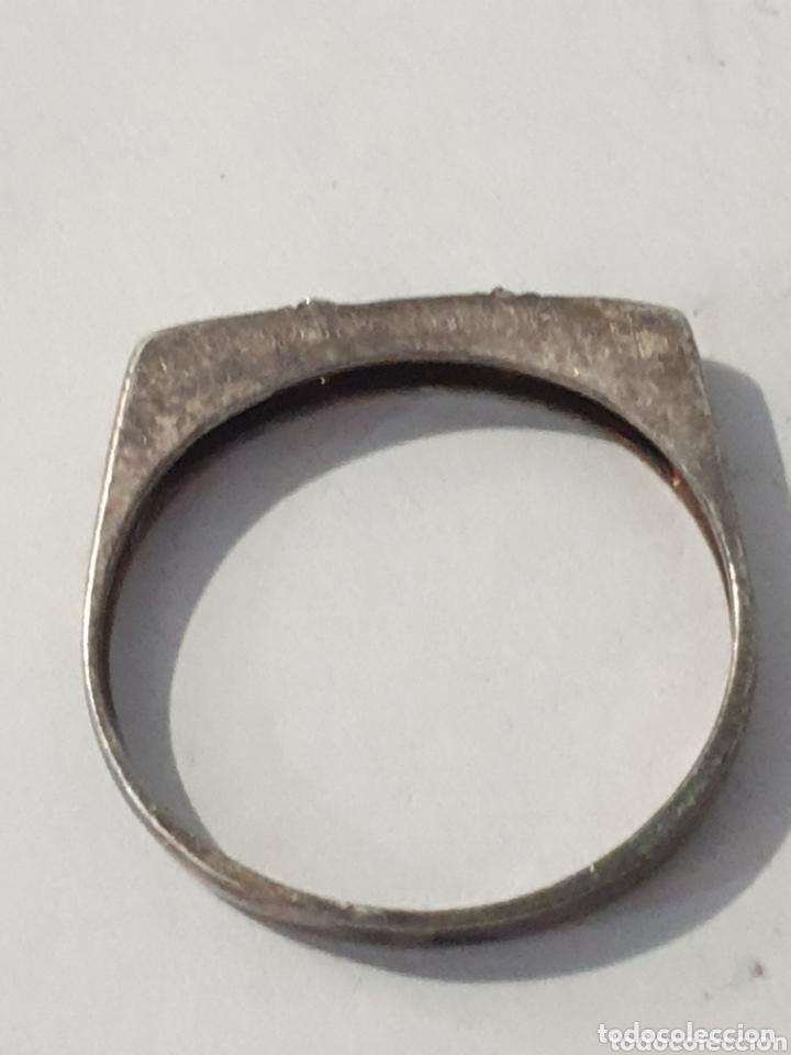 Vintage: Excelente anillo de plata de ley 925 con circonias antiguo - Foto 3 - 172998538