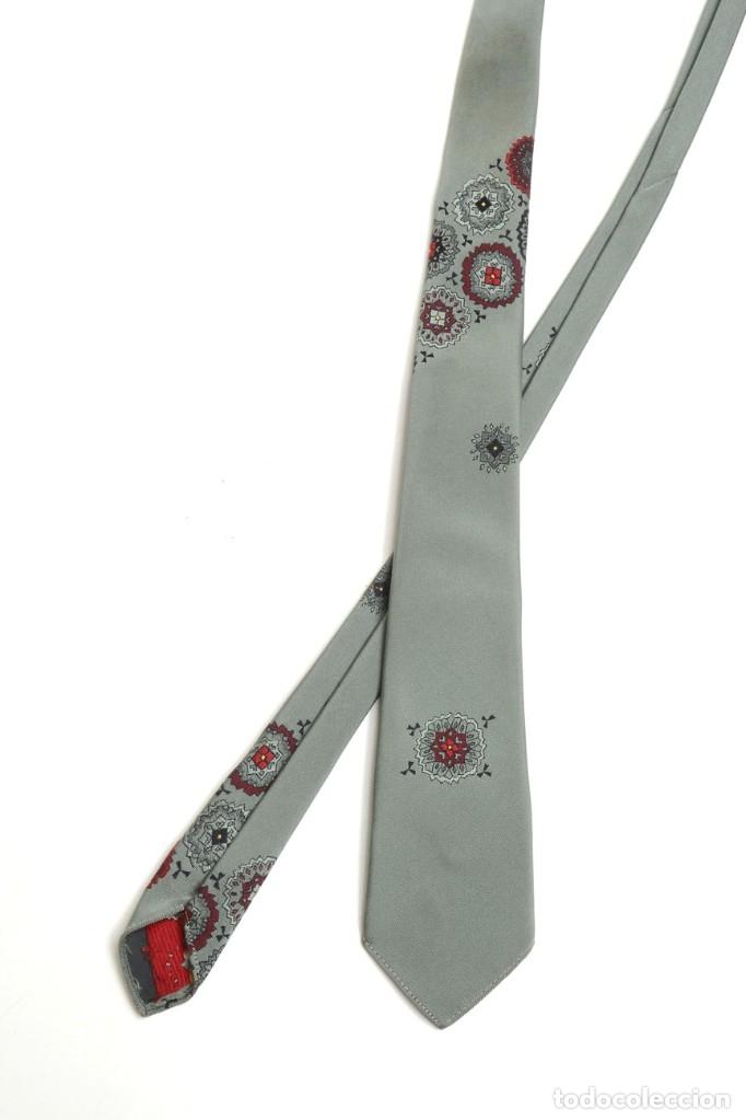 Vintage: Corbata para hombre vintage de los años 60 satinada de color verde oliva trelenka - Foto 2 - 173152975