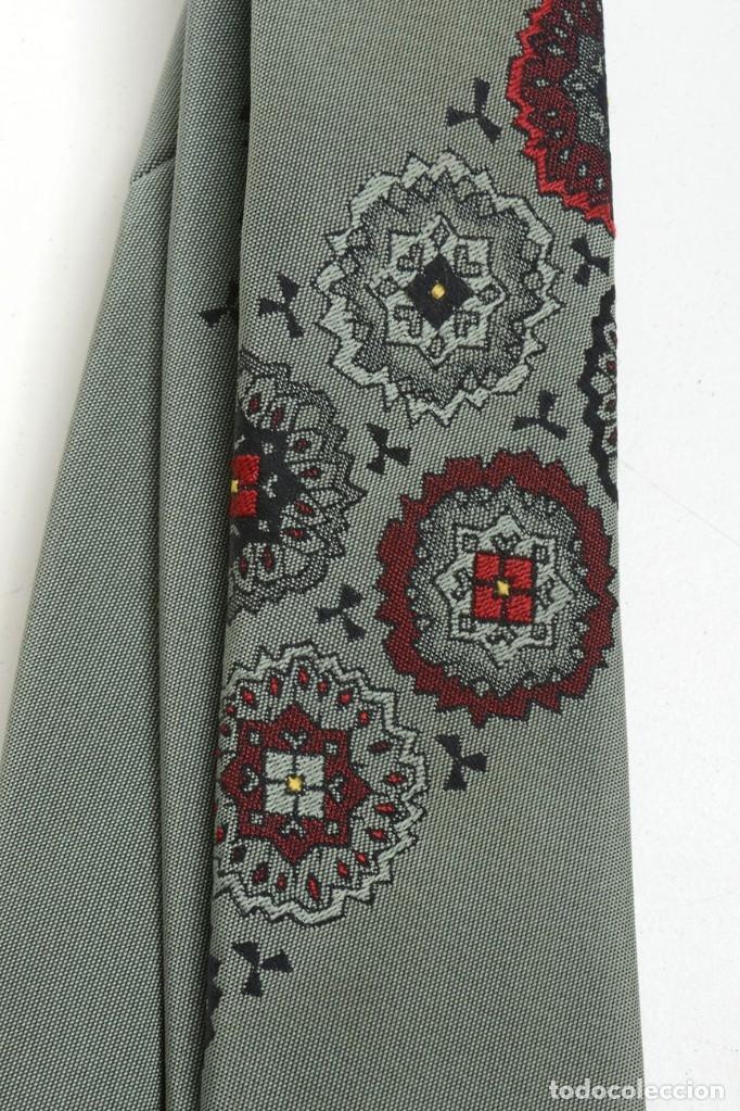Vintage: Corbata para hombre vintage de los años 60 satinada de color verde oliva trelenka - Foto 5 - 173152975