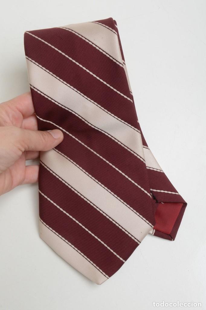 Vintage: Corbata vintage ancha de hombre a rayas, corbata años 70 - Foto 5 - 173196384