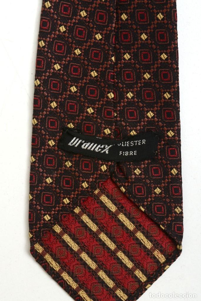 Vintage: Preciosa corbata vintage 50-60 marrón con gracioso estampado - Foto 3 - 173196617