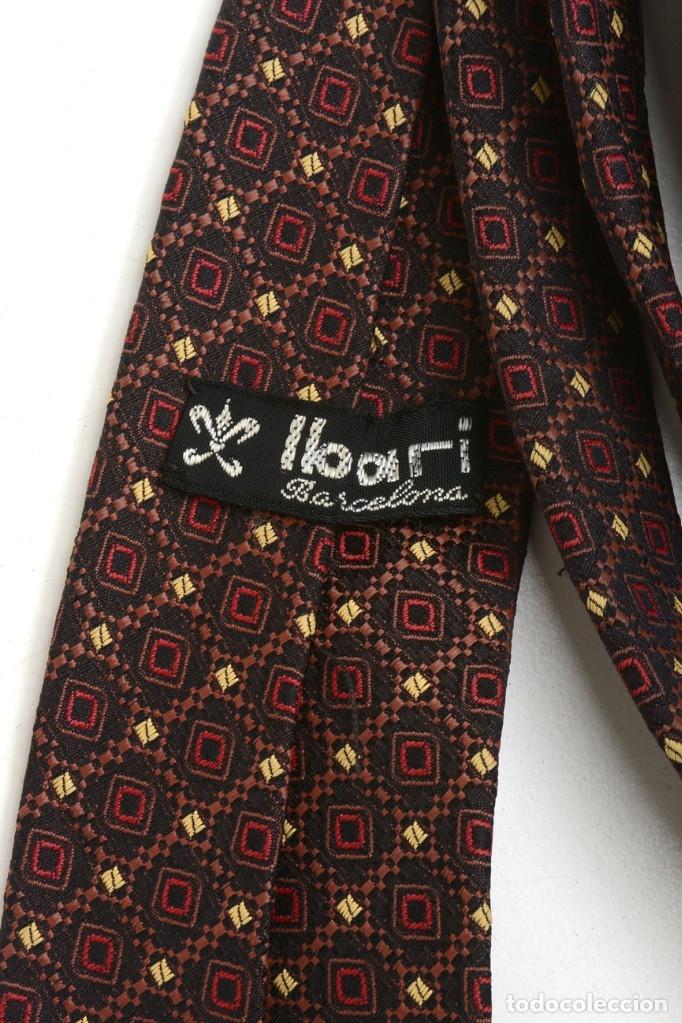 Vintage: Preciosa corbata vintage 50-60 marrón con gracioso estampado - Foto 4 - 173196617