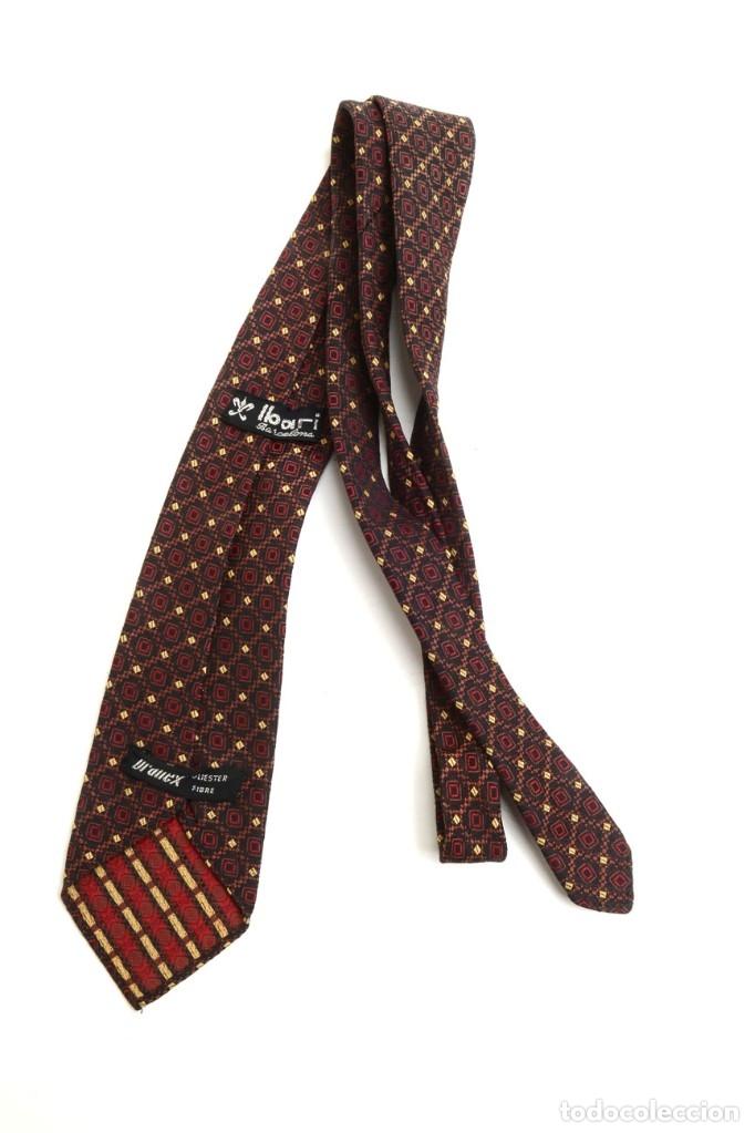 Vintage: Preciosa corbata vintage 50-60 marrón con gracioso estampado - Foto 5 - 173196617