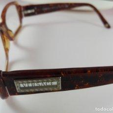 Vintage: GAFAS-VERSACE-MUJER-CAREY O SIMILAR-CAJA-TOALLITA-COMO NUEVA-VER FOTOS. Lote 173304810