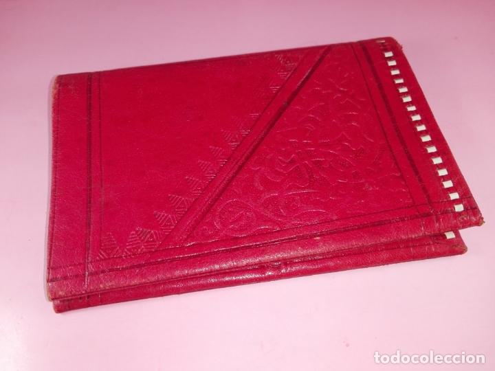 Vintage: Cartera-Piel moruna-Roja-Ver fotos+descripción - Foto 3 - 173822148