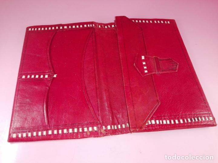 Vintage: Cartera-Piel moruna-Roja-Ver fotos+descripción - Foto 4 - 173822148