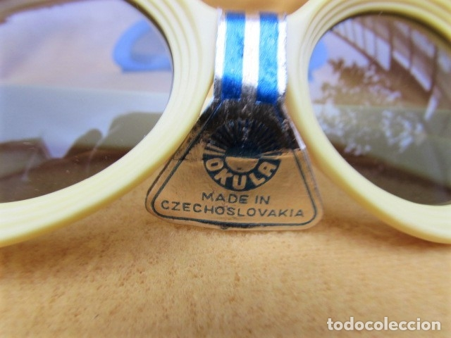 Vintage: GAFAS VINTAGE CON LENTES OKULA CZECHOSLOVAQUIA - Foto 4 - 173823253