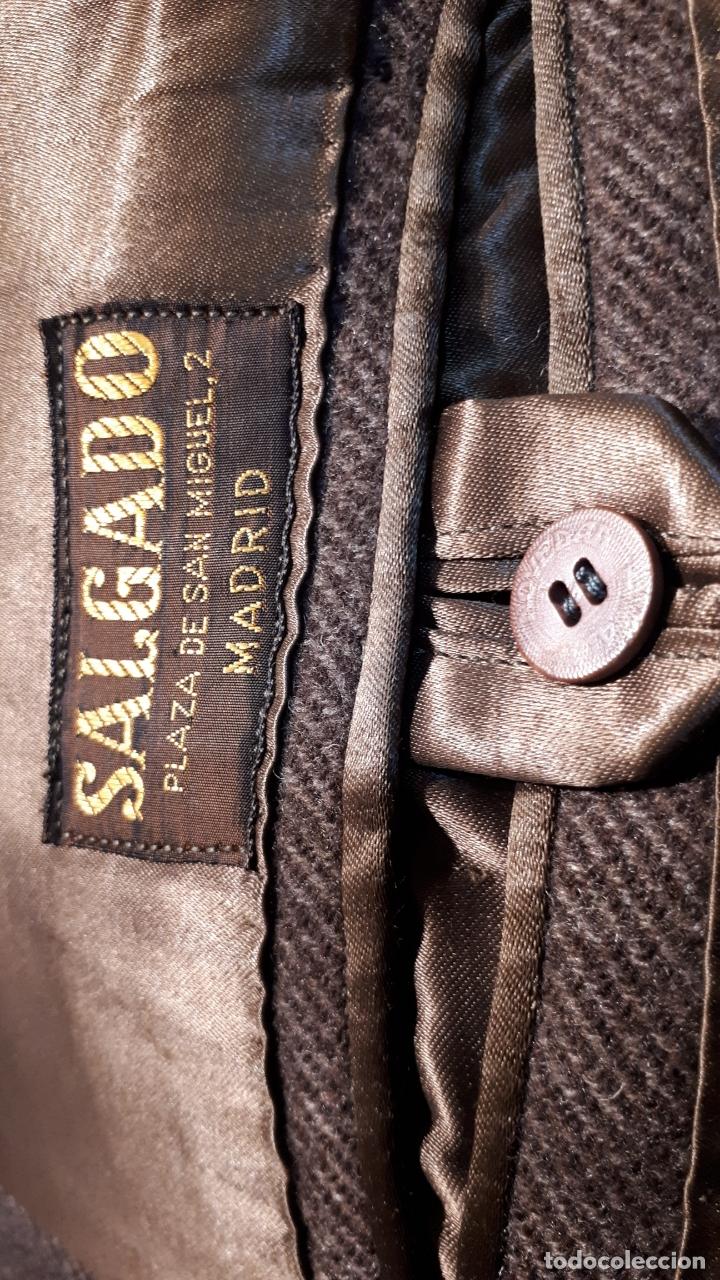 Vintage: ABRIGO AÑOS 40 MARRÓN OSCURO SASTRERÍA SALGADO - Foto 5 - 173832207