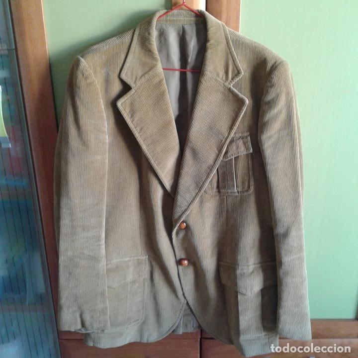 CHAQUETA DE PANA VINTAGE, COLOR CAMEL TALLA 54 (Vintage - Moda - Hombre)
