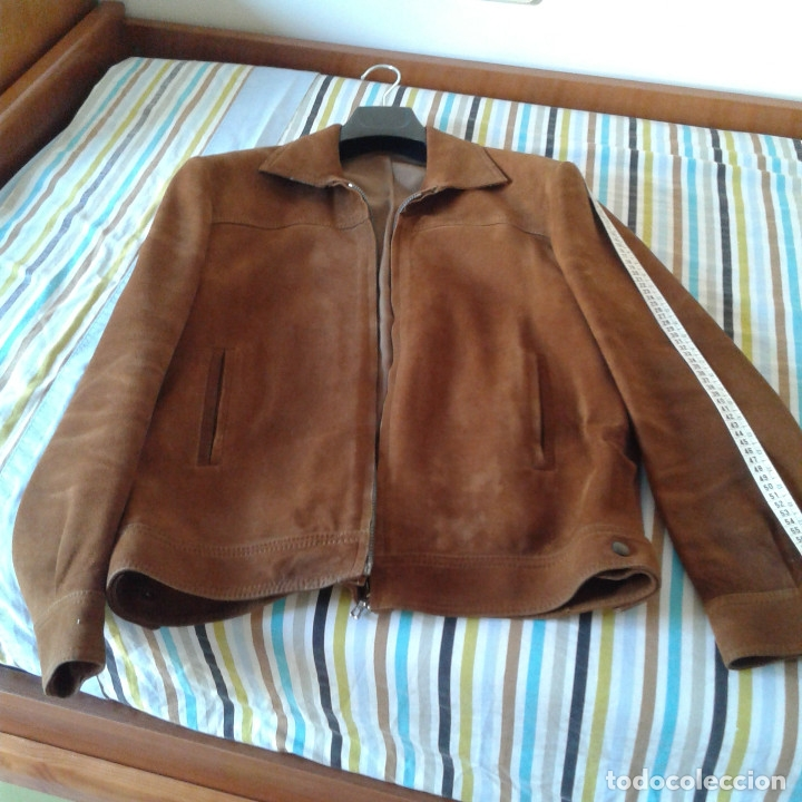 Vintage: Cazadora vintage caballero piel Nobuk, Talla 54, color camel - Foto 11 - 174358778
