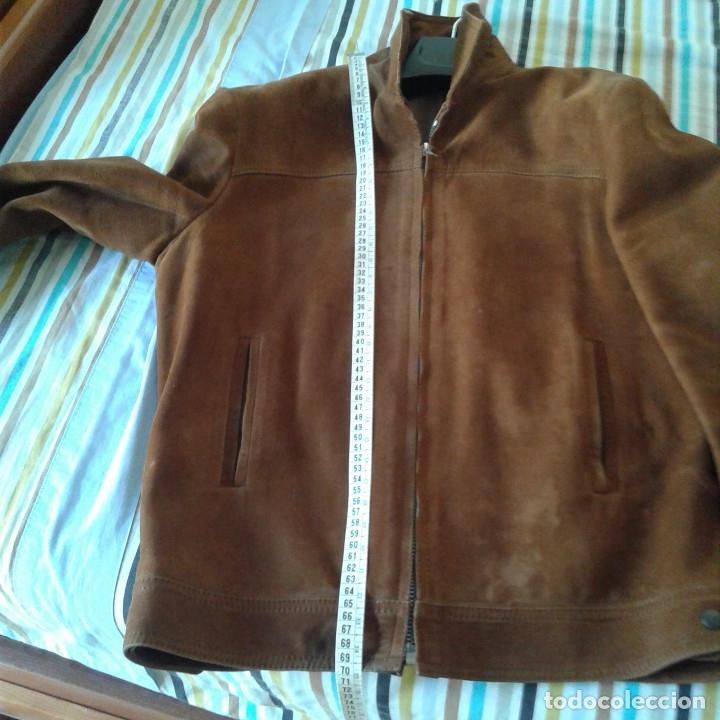 Vintage: Cazadora vintage caballero piel Nobuk, Talla 54, color camel - Foto 16 - 174358778