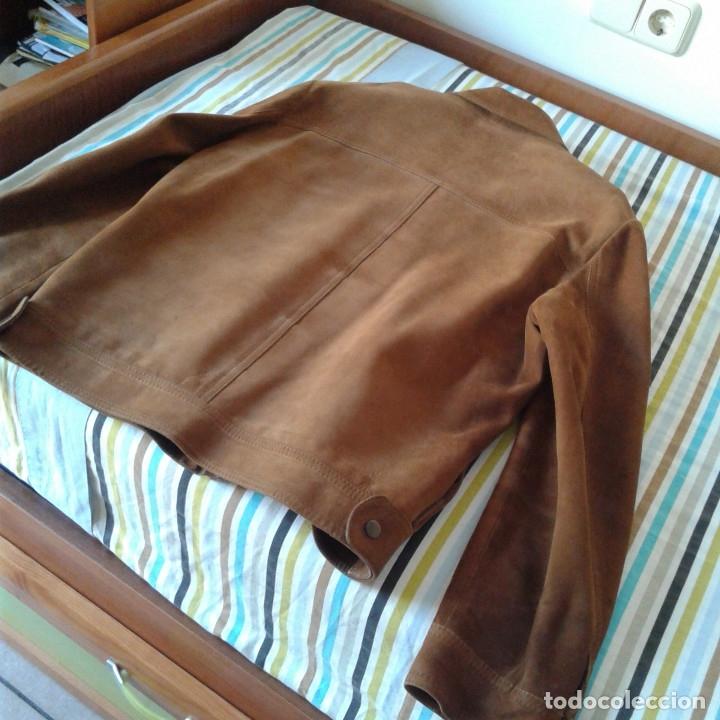 Vintage: Cazadora vintage caballero piel Nobuk, Talla 54, color camel - Foto 20 - 174358778