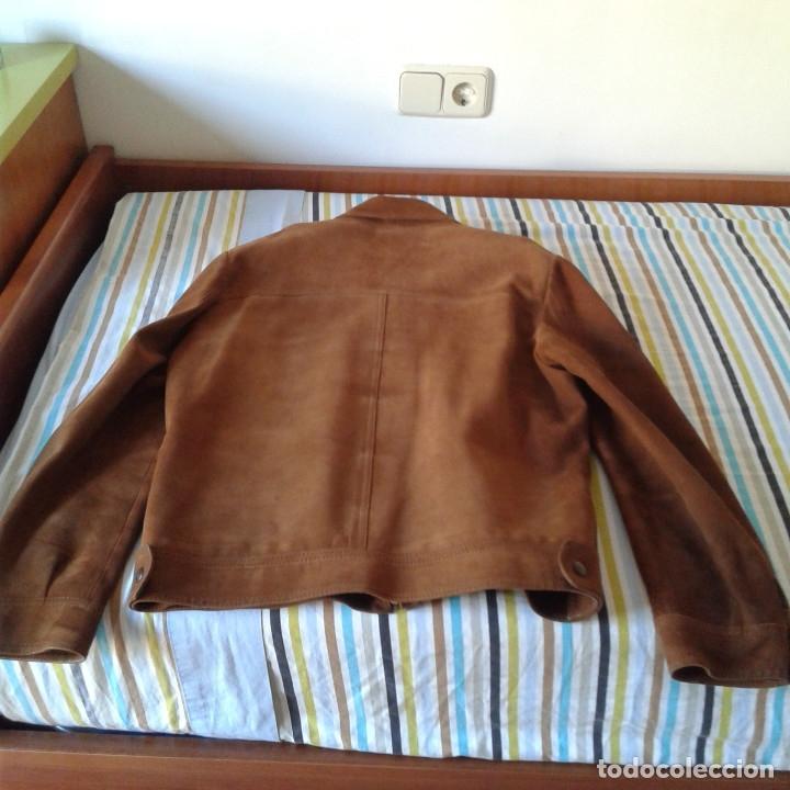 Vintage: Cazadora vintage caballero piel Nobuk, Talla 54, color camel - Foto 21 - 174358778