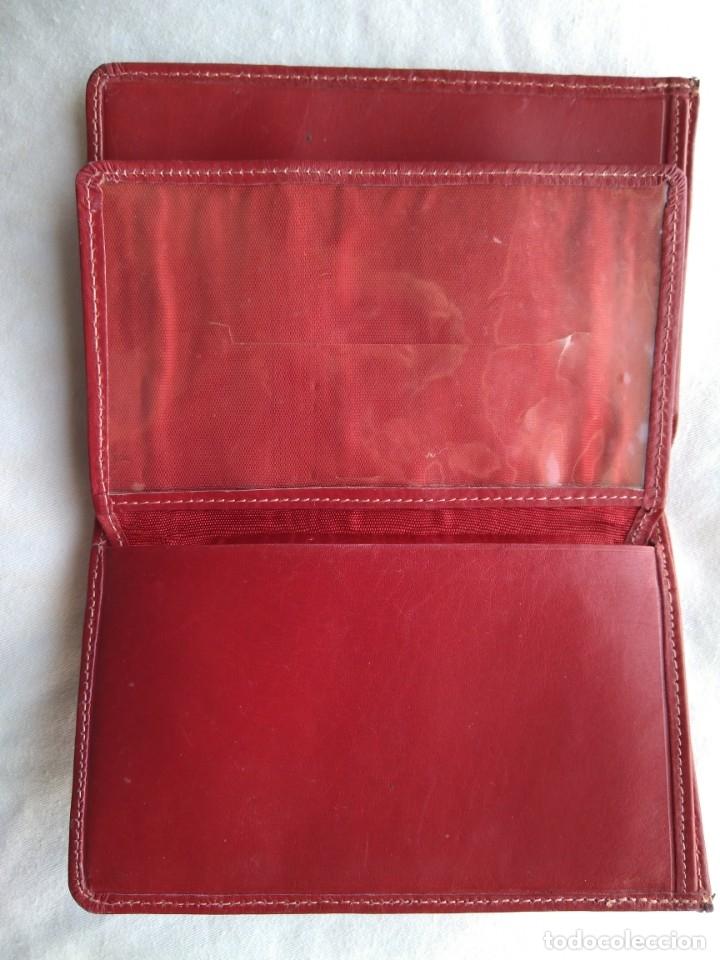 Vintage: Cartera roja piel vacuno vintage - Foto 4 - 174406789