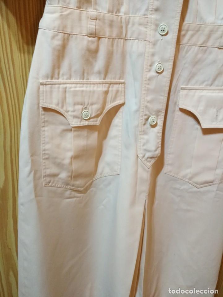 Vintage: RB 40 Vestido mujer CACHAREL manga corta beige o rosado y detalles estampados Talla 40 - Foto 6 - 174440180