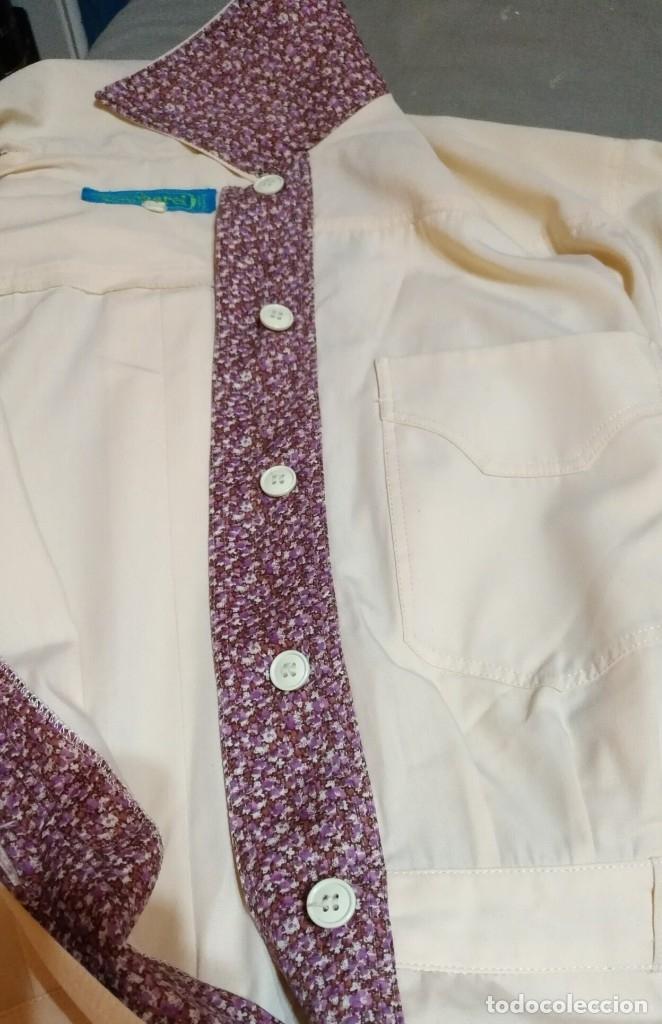 Vintage: RB 40 Vestido mujer CACHAREL manga corta beige o rosado y detalles estampados Talla 40 - Foto 10 - 174440180