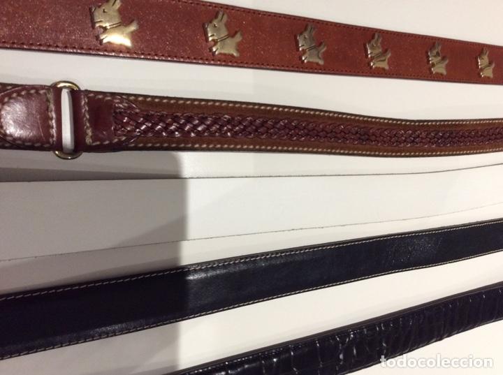 Vintage: Lote de cinco cinturones vintage de auténtica piel. Años 70. Impecables - Foto 13 - 175068418