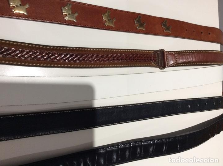 Vintage: Lote de cinco cinturones vintage de auténtica piel. Años 70. Impecables - Foto 14 - 175068418