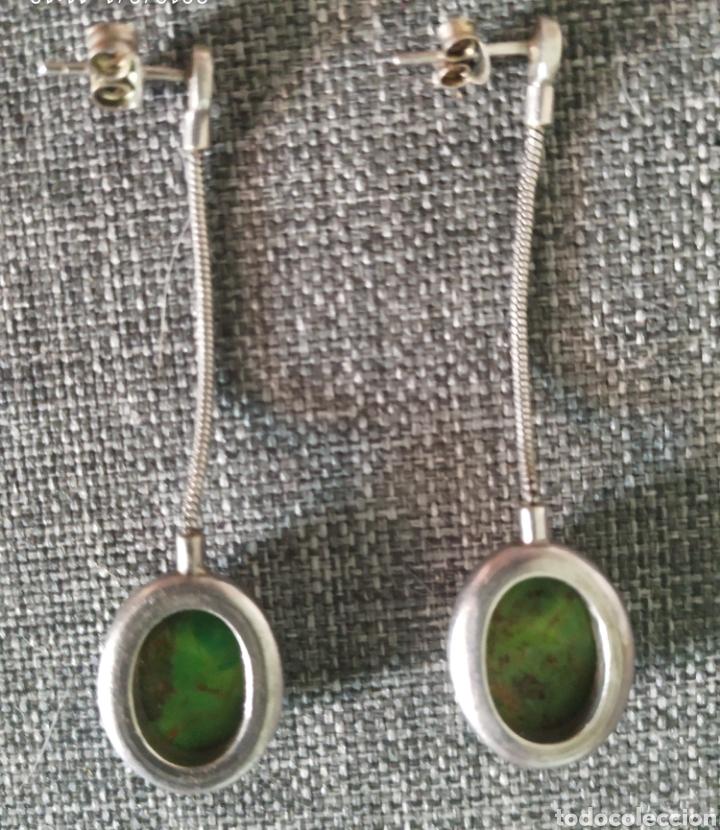 Vintage: Pendientes 925 plata,piedra Natural - Foto 2 - 175314874