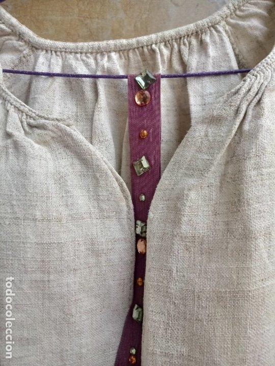 Vintage: Antiguo vestido de lino y punto de cruz( bordado a mano) - Foto 4 - 215380221