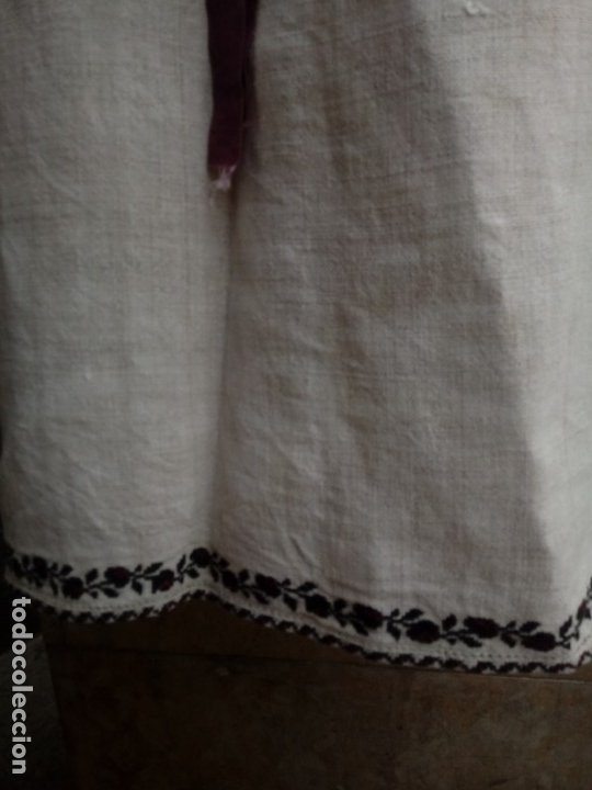 Vintage: Antiguo vestido de lino y punto de cruz( bordado a mano) - Foto 5 - 215380221