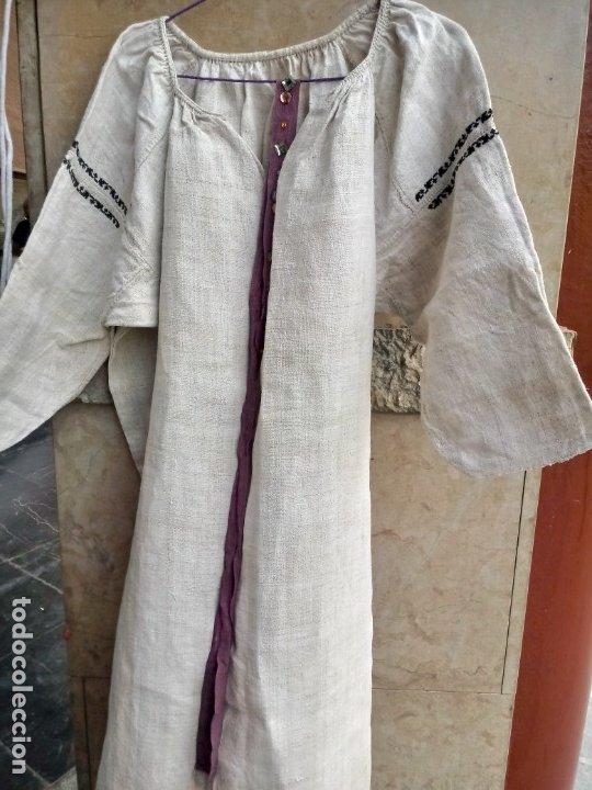 Vintage: Antiguo vestido de lino y punto de cruz( bordado a mano) - Foto 6 - 215380221
